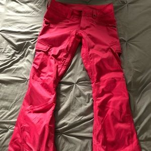 Pink Burton snow pants